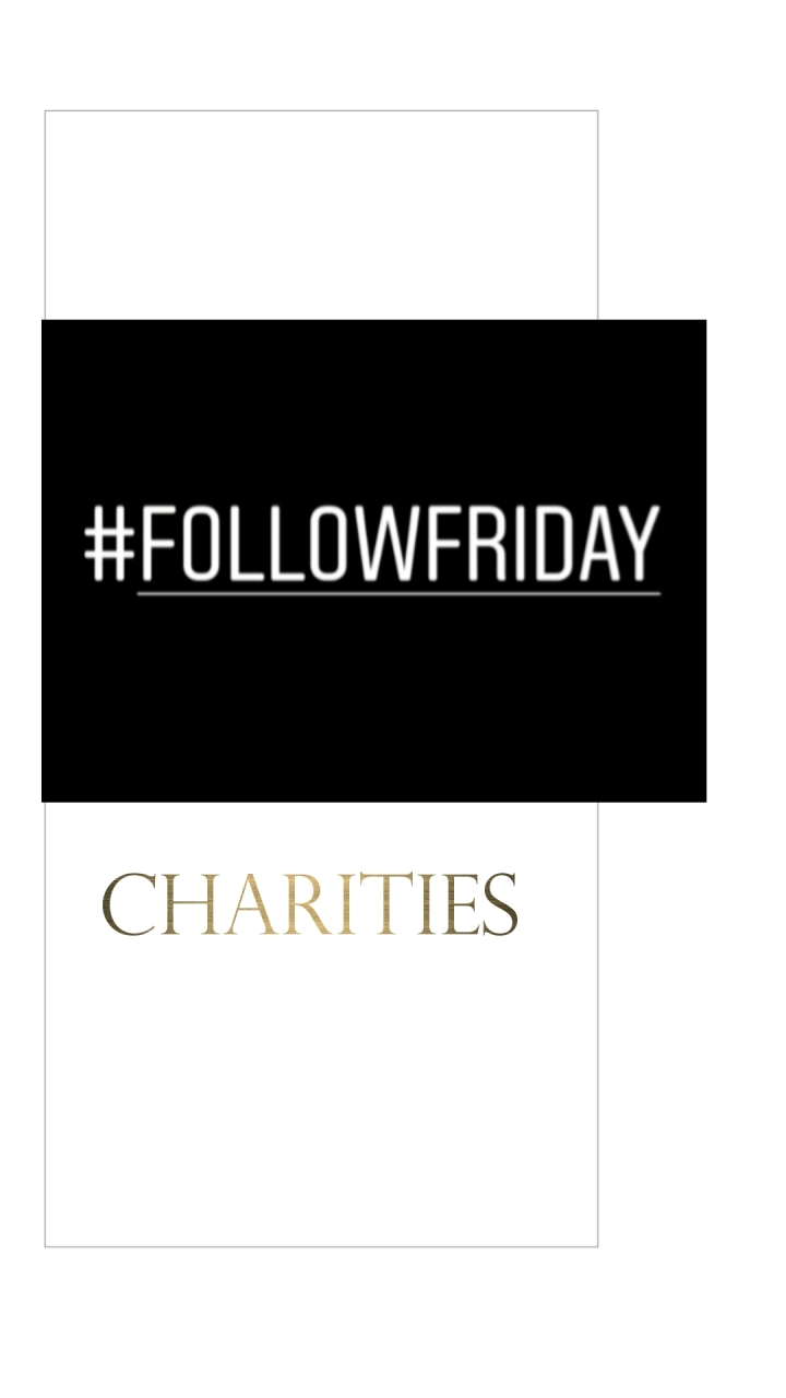 #FOLLOWFRIDAY – Charities